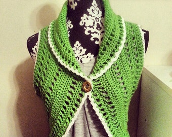 Medium Crochet Vest/Shrug