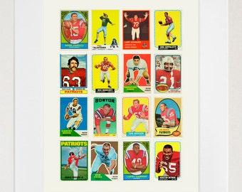 Patriots - New England Patriots - Patriots Football Poster - Boston - Football Poster - Vintage Football - Football Art - NFL Art - Pats