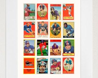 New York Giants  - Giants Poster - Giants Football - Giants Wall Art - New York Poster - New Jersey Poster - Vintage Football - Football Art