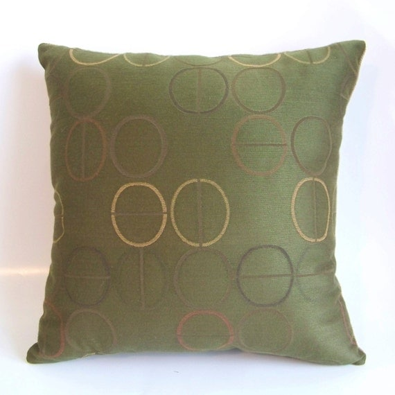 Olive Green Decorative Pillow : Olive Green Decorative Pillow by HollysHobbies4U on Etsy