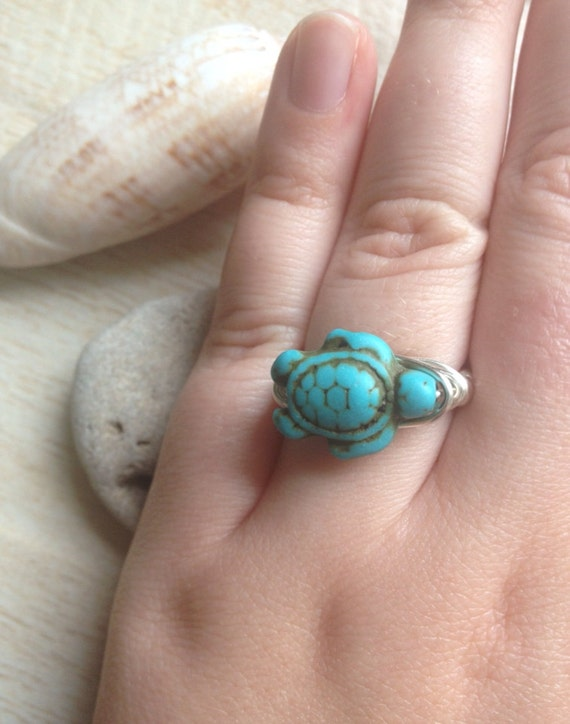 Ocean Colored Wedding Ring