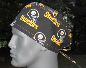 NFL Steelers scrub caps black or yellow print