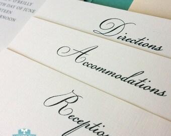Thermography Wedding Invitation - Wedding Pocket Invitation