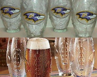 Football Shaped Ravens Glassware