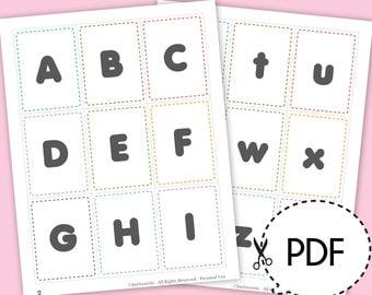 Alphabet flash cards | Etsy
