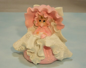 Baby Girl in Bassinet Cake Topper
