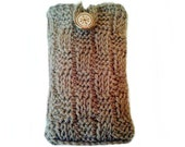 Cell phone sleeve - Mens light brown checkerboard compass button lg enact knit iphone case samsung galaxy stratosphere case