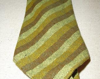 Vintage wool men's striped necktie
