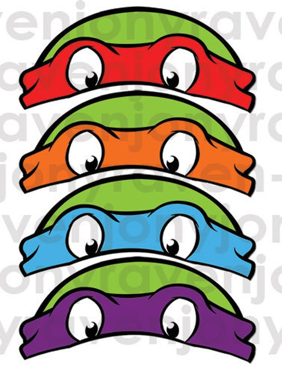 Clever image regarding ninja turtle mask printable