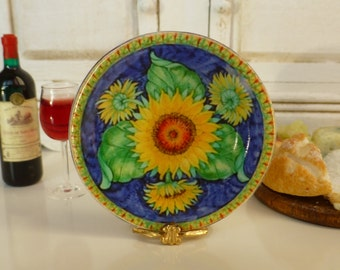 Tuscan Sunflowers Plate for Dollhouse