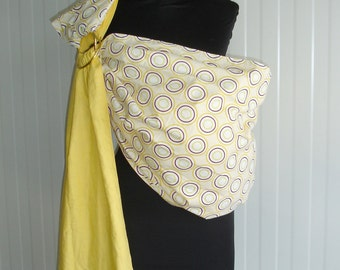 Baby Sling Ring/Baby Carrier/Reversible Baby ring Sling/Baby Wrap/Yellow Cherry Blossoms/Baby Gift