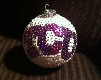 TCU Texas Christian Sequin Christmas Ornament
