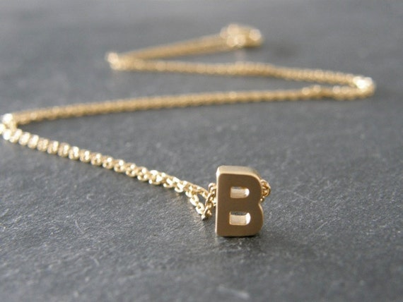 letter a initial necklace initial letter b necklace gold initial personalized 17416 | il 570xN.573160845 t617