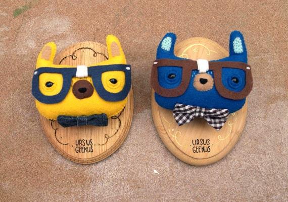 Ursus Geekus - Intelectual bears wall trophies