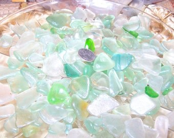 50ct Sea Foam 100% Genuine Ocean Tumbled Sea Glass from the Monterey Bay, Jewelry Grade A