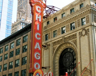 Showtime in Color - Chicago Theater - Marquee - Chicago - 8x10
