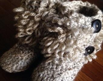 Crochet Loopy booty/slipper
