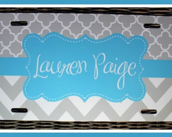 Personalized Monogrammed License Plate Car Tag, Monogram License Plate, Personalized License Plate, Monogram Car Tag, License Plate Monogram