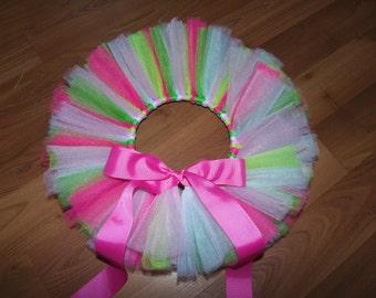 Pink, Green & White Tutu