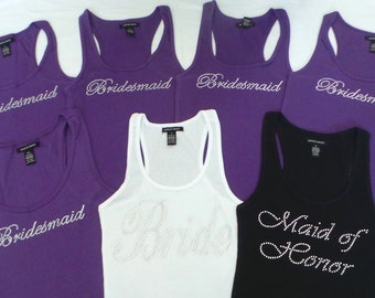 12 Bride Tank Top. Team Bride . Bachelorette Party. Maid of Honor. Bridesmaid. Matron of Honor. Wedding Bridal Party.