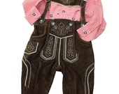 Leather pants, real traditional bavarial leather trousers for boys