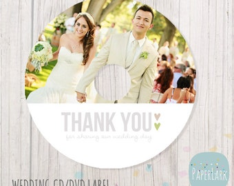 Wedding CD label photoshop template -EW001- INSTANT Download