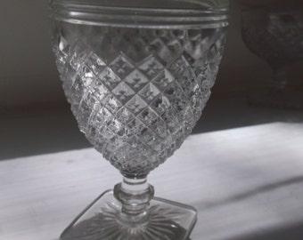 Vintage Crystal Miss America Juice Goblet