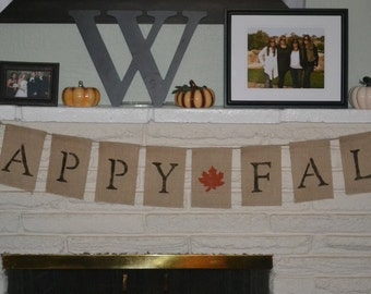 Happy Fall Burlap Banner