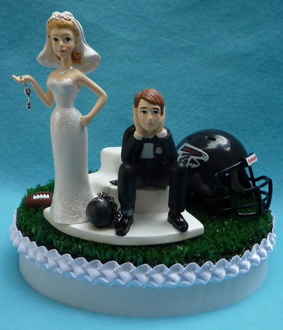 wedding cake topper atlanta falcons football themed ball and. Black Bedroom Furniture Sets. Home Design Ideas