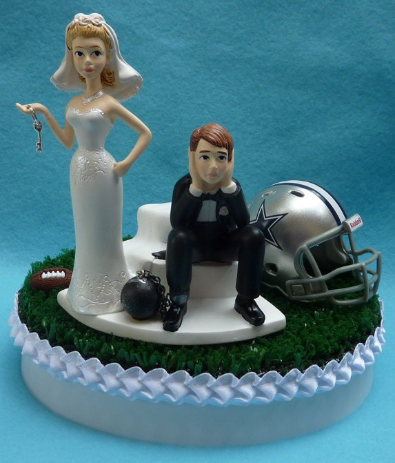 cowboy themed wedding cake toppers wedding cake topper dallas cowboys football themed and 13026