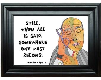 Truman Capote--Art Print