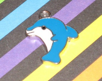 Baby Dolphin Enamel Pendant Charm(s) Only