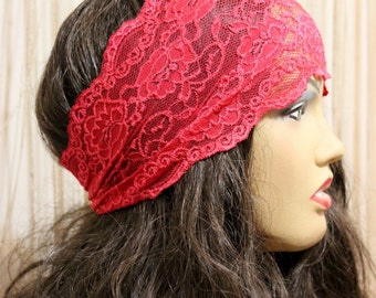 Christmas gift, Christmas scarf, New year gift ideas, winter scarf, 9 colors Flower Lace Headband Hair Bands
