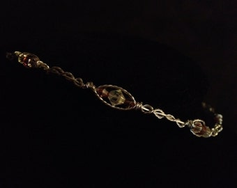 Crystal elegance choker necklace in fall foliage