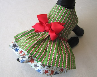 Small - Dog Christmas Dress - Little Dog Holiday Dress - Puppy Xmas Dress - Small Breed