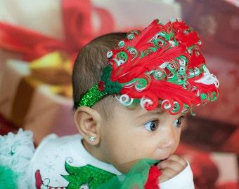Christmas Feather Headband