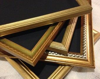 Gold frame chalkboards, wedding chalkboard set , 8 x 10 , set of 6