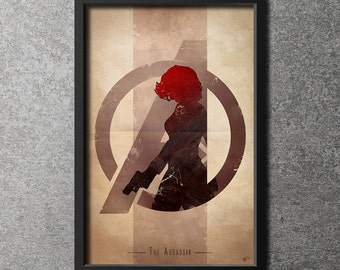 Giclee Art Print 'Avengers Assembled: The Assassin'