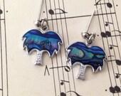 1980s Vintage Palm Tree Earrings