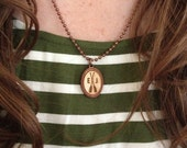 Monogram Oar Necklace, Jewelry, Women, Girls, Custom, Pendant, Nautical