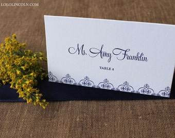 Kennedy Wedding Place Cards SAMPLE