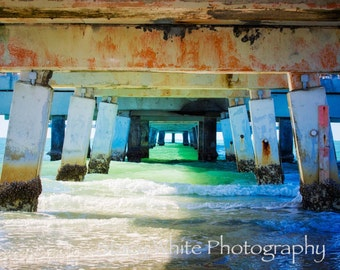 Nature Photography - Landscape Photography - Under The Pier - Fine Art Photograph by Stacy White Photography