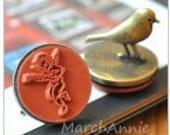 1 pc Iron Bird stamp -Vintage Stamp - Iron Rubber Stamp - Diary Stamp - Angel