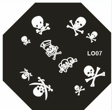 Cute LO 07 Octagonal Stamping Metal Plate With Free Gift