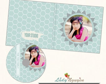 Instant Download CD/DVD Label and cover templates - CD037