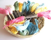 50 Skeins Pack  of Embroidery Floss - 100 % cotton Floss - 50 different colors