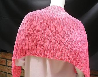 Hand knit lacy summer shawl