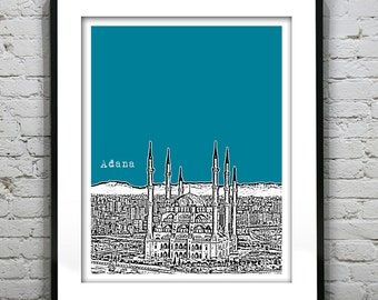 Adana Turkey City Skyline Poster Art Print