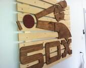 Chicago White Sox wooden flag