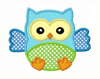 Baby Owl Applique Machine Embroidery Design NO:0076